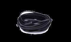 Leather Stripe Flat black 3mm/ 5m