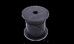 Leather Stripe Flat black 3mm/ roll 25 m