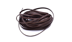 Leather Stripe Flat brown 3mm/ 5m