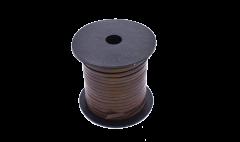 Leather Stripe Flat brown 3mm/ roll 25 m