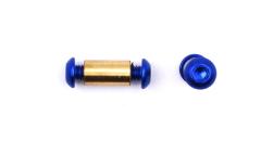 Pivot Aluminium Blue Button 3/16
