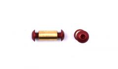Pivot Aluminium Red Button 3/16