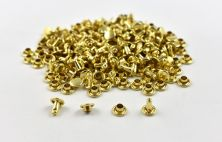 Double Cap Rivet - Brass 7x7mm / 100pcs