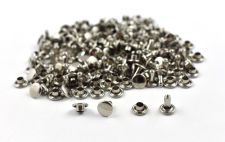 Double Cap Rivet - Nickel 7x7mm / 100pcs