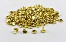 Double Cap Rivet - Brass 9x9mm / 100pcs