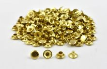Single Cap Rivet - Brass 4x7mm / 100pcs