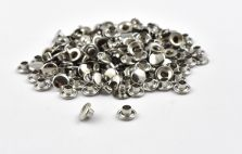 Single Cap Rivet - Nickel 4x7mm / 100pcs