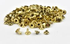 Single Cap Rivet - Brass 7x7mm / 100pcs