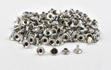 Single Cap Rivet - Nickel 7x7mm / 100pcs