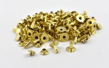 Single Cap Rivet - Brass 7x9mm / 100pcs