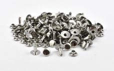 Single Cap Rivet - Nickel 7x9mm / 100pcs