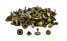 Single Cap Rivet - Antique 7x9mm / 100pcs
