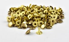 Single Cap Rivet - Brass 9x9mm / 100pcs