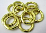 O ring Brass Embossed 19 mm/10 pcs