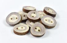 Medium Buttons / Reindeer Horn / 10 pcs