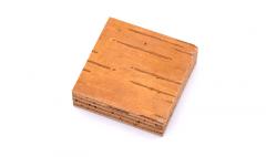 Birch bark spacer block