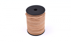 Leather stripe round natural 4mm /roll 25m
