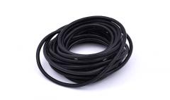 Leather stripe round black 4mm /5m