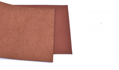 Vegetabile tanned leather/brown/ 10 cm