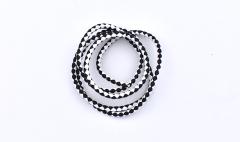 Braided Round Cord Black & White 5mm