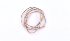 Premium Braided Leather Cord Natural 5mm/ 1m