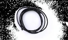Premium Braided Leather Cord Black 5mm/ 1m