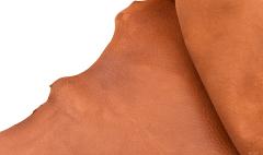 Deer nappa - Cognac - 11 sqft - 2mm-2,5mm