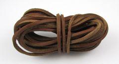 Leather Stripe Flat light brown 3mm/ 5m